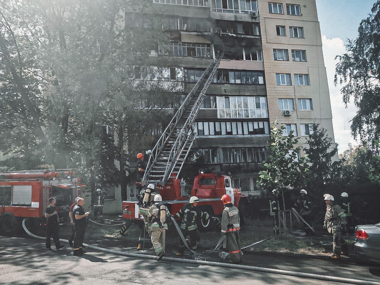Помощь на пожаре картинка