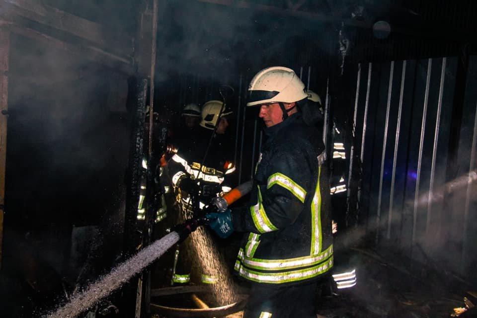 В Киеве возник пожар в вольерах для собак, фото-4