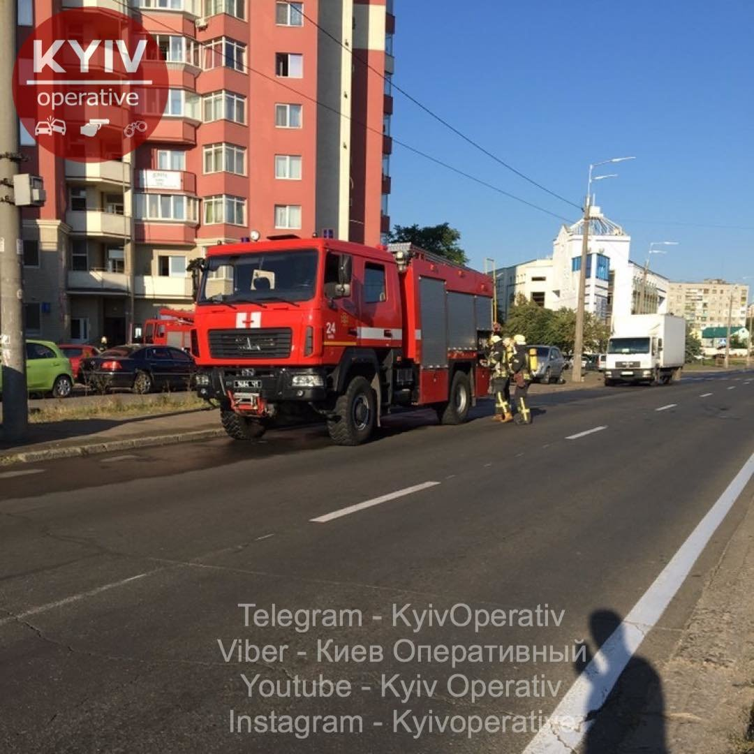 В Киеве горит жилая высотка, ФОТО, фото-3