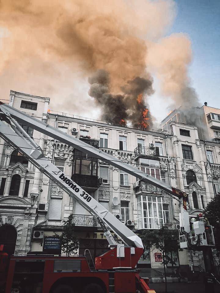 В жилом доме в центре Киева произошел пожар, фото-3