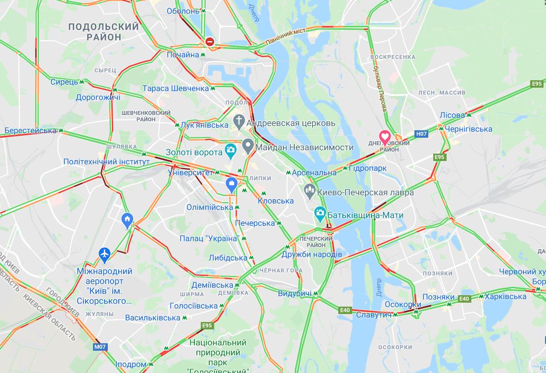 Пробки в Киеве: где в столице затруднено движение 31 августа, фото-1