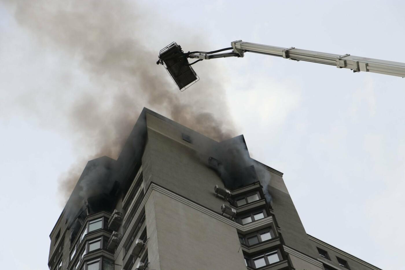 В Киеве во время пожара в многоэтажке заживо сгорел мужчина - ФОТО, фото-7