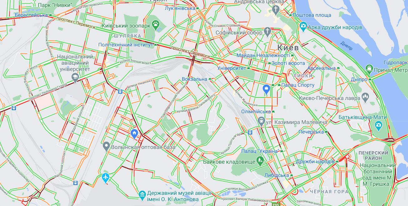 Пробки в Киеве: ситуация на столичных дорогах и мостах  - КАРТА, фото-2