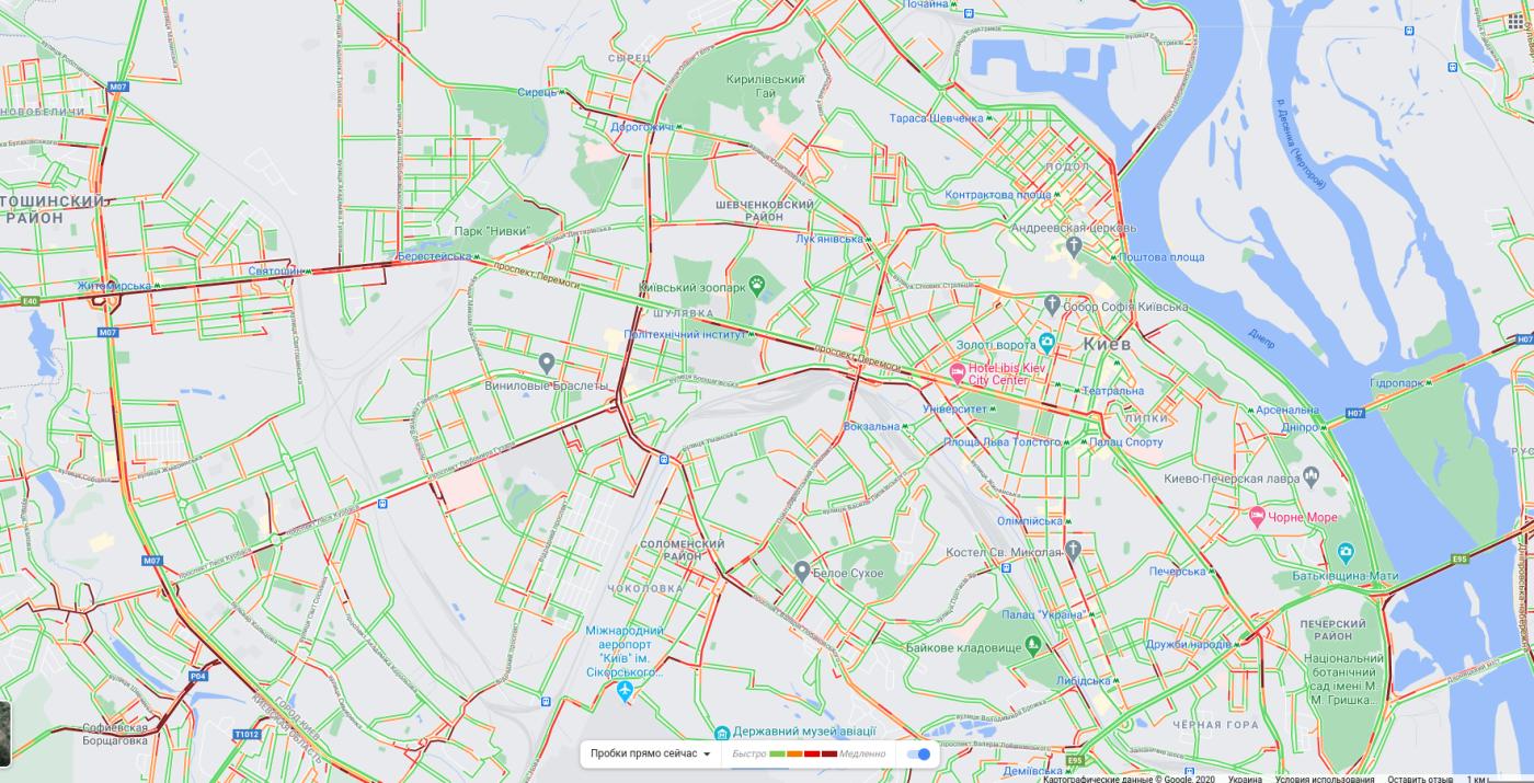 Пробки в Киеве: куда лучше не ехать утром в понедельник, КАРТА, фото-4