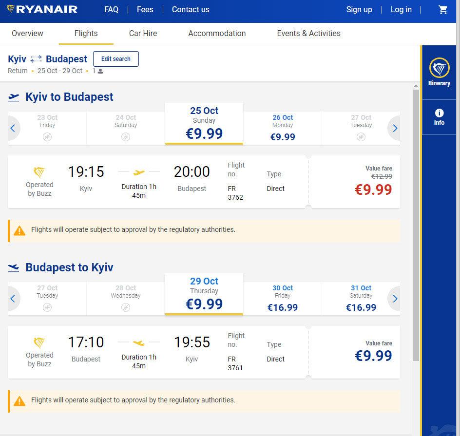 """Максимально дешево: """"Ryainar"""" распродает билеты из Киева в Будапешт , фото-1"""