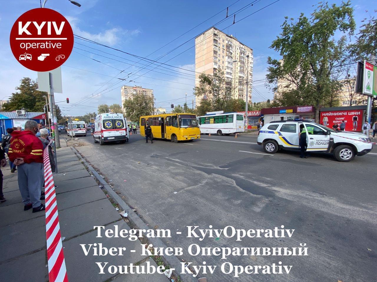 В Киеве на Виноградаре произошло смертельное ДТП с участием маршрутки, ВИДЕО, фото-2