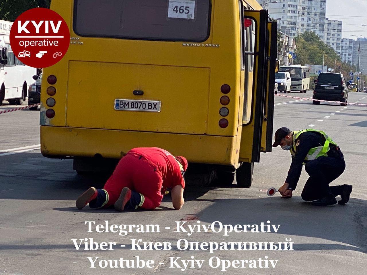 В Киеве на Виноградаре произошло смертельное ДТП с участием маршрутки, ВИДЕО, фото-1