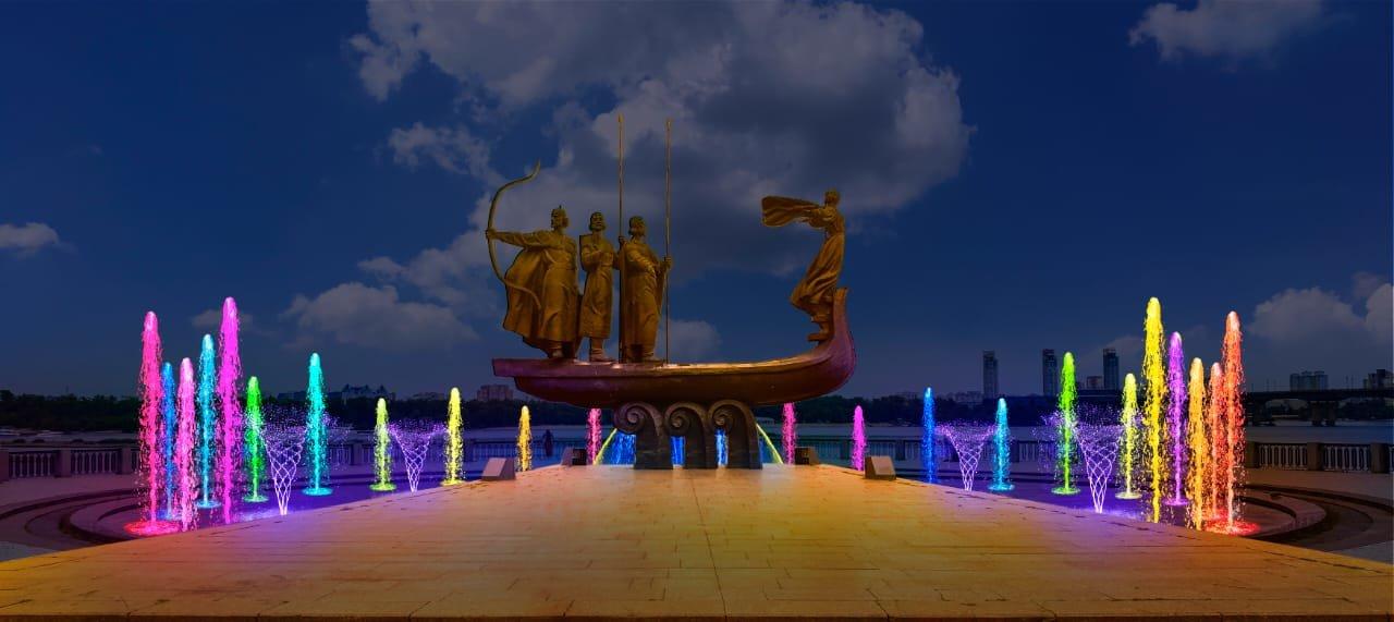 В Киеве стартовал ремонт фонтана возле памятника основателям: он будет с подсветкой, ФОТО, фото-2, Фото Киевзеоенстроя