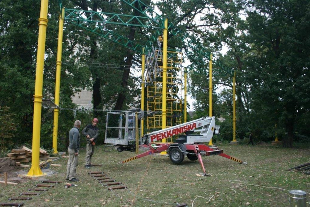 Во дворе столичной школы появится «Веревочный парк», ФОТО, фото-3