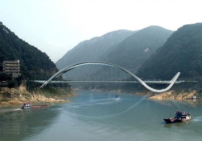 Мост в китайском муниципалитете города Чунцин, Фото: Taranta Creations