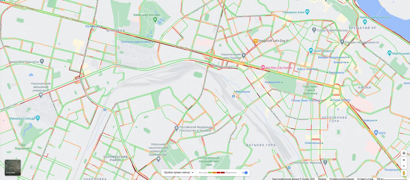 Пробки в Киеве 13 октября 2020: какие улицы лучше объезжать, КАРТА, фото-4
