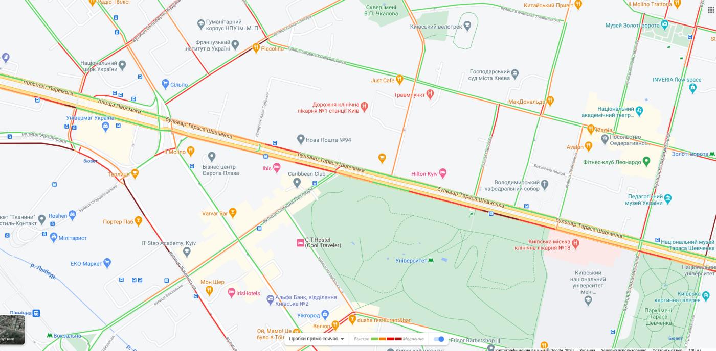 Пробки в Киеве 16 октября: что творится на дорогах утром, КАРТА, фото-1