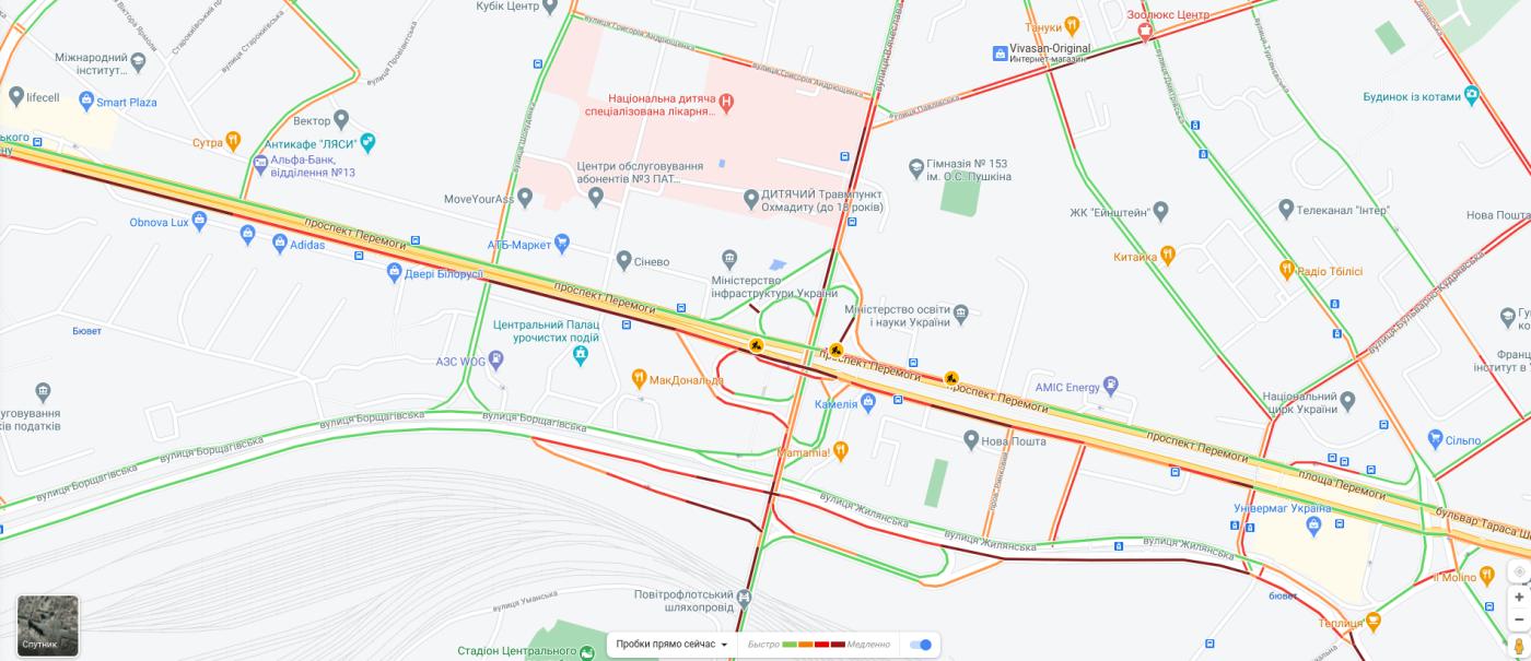 Пробки в Киеве 16 октября: что творится на дорогах утром, КАРТА, фото-7