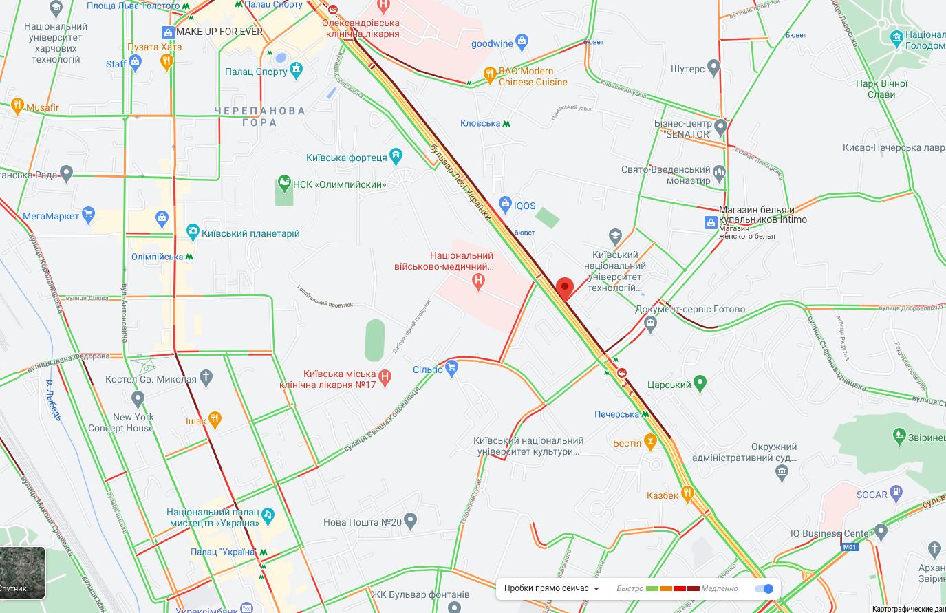 Пробки в Киеве 16 октября: что творится на дорогах утром, КАРТА, фото-2