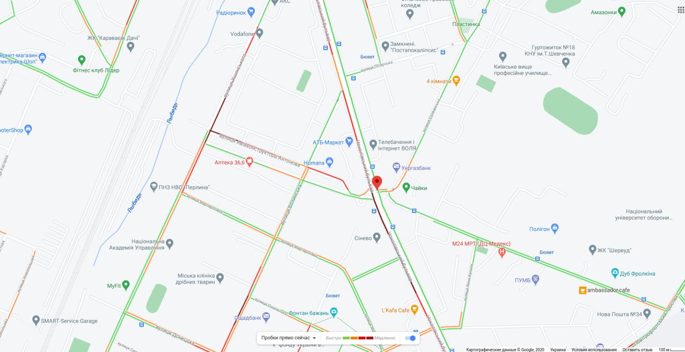 Пробки в Киеве 16 октября: что творится на дорогах утром, КАРТА, фото-5