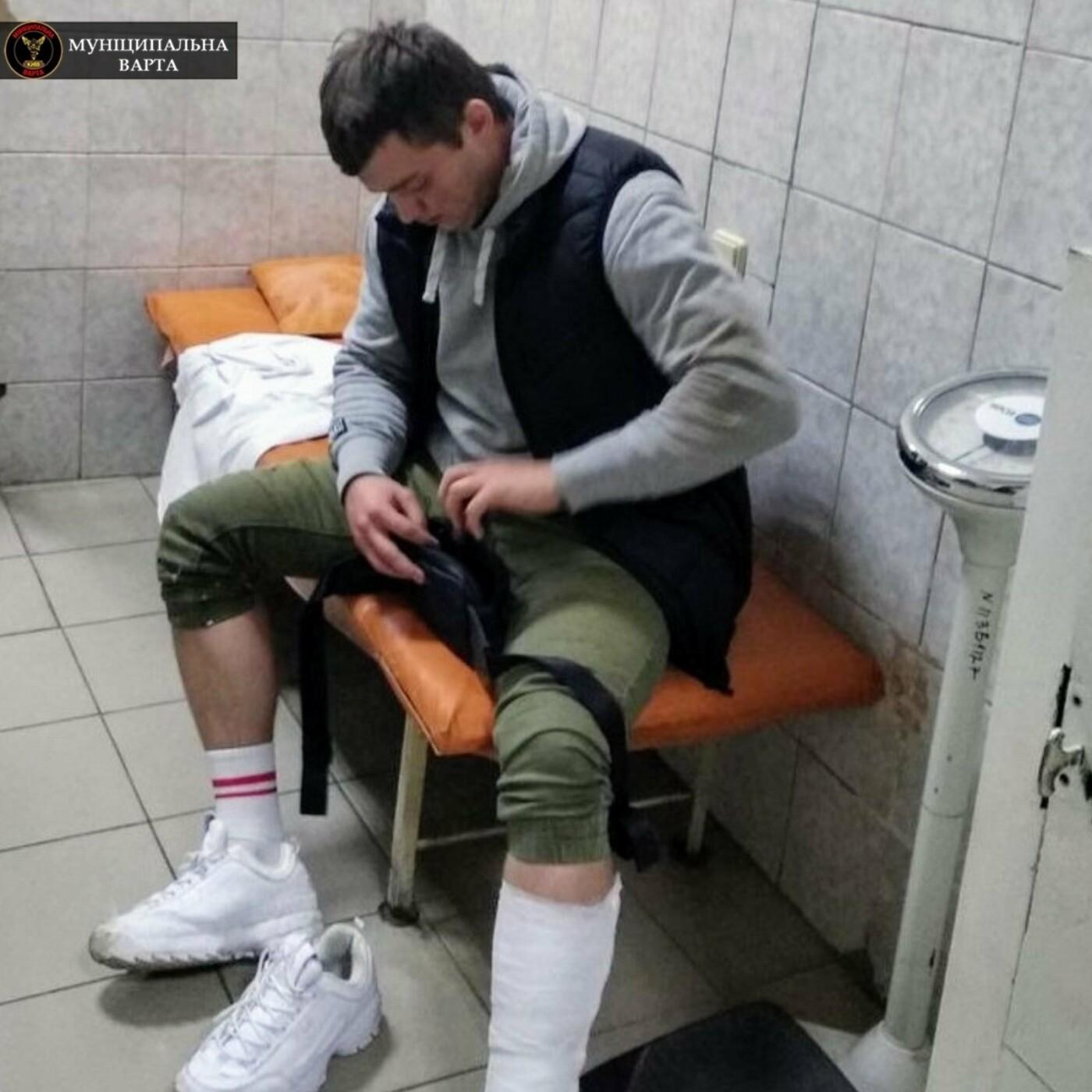 Перелом костей и сотрясение: в Киеве пациент жестоко избил врача, ФОТО, фото-3, Фото Муниципальной варты