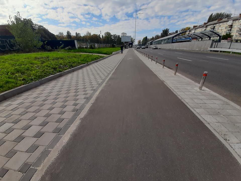 Возле университета НАУ в Киеве появятся новые велодорожки, ФОТО, фото-1, Фото Игоря Довбаня в Facebook