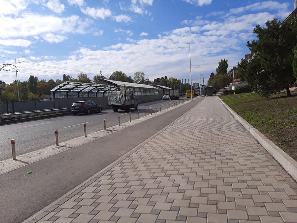 Возле университета НАУ в Киеве появятся новые велодорожки, ФОТО, фото-3, Фото Игоря Довбаня в Facebook