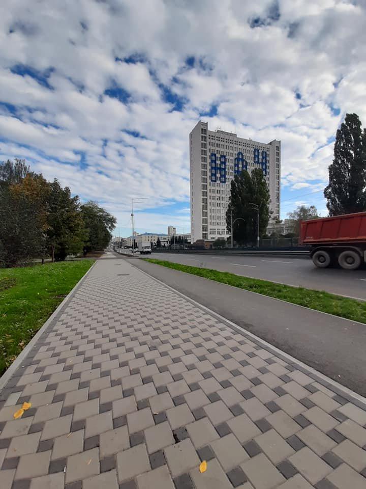 Возле университета НАУ в Киеве появятся новые велодорожки, ФОТО, фото-4, Фото Игоря Довбаня в Facebook
