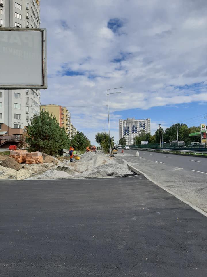 Возле университета НАУ в Киеве появятся новые велодорожки, ФОТО, фото-5, Фото Игоря Довбаня в Facebook