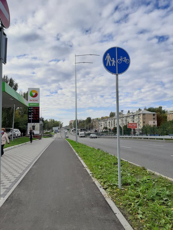 Возле университета НАУ в Киеве появятся новые велодорожки, ФОТО, фото-11, Фото Игоря Довбаня в Facebook