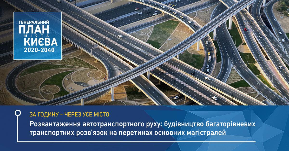 В Киеве задумали построить 11 новых транспортных развязок, Фото Генплан Киева на странице в социальной сети Facebook