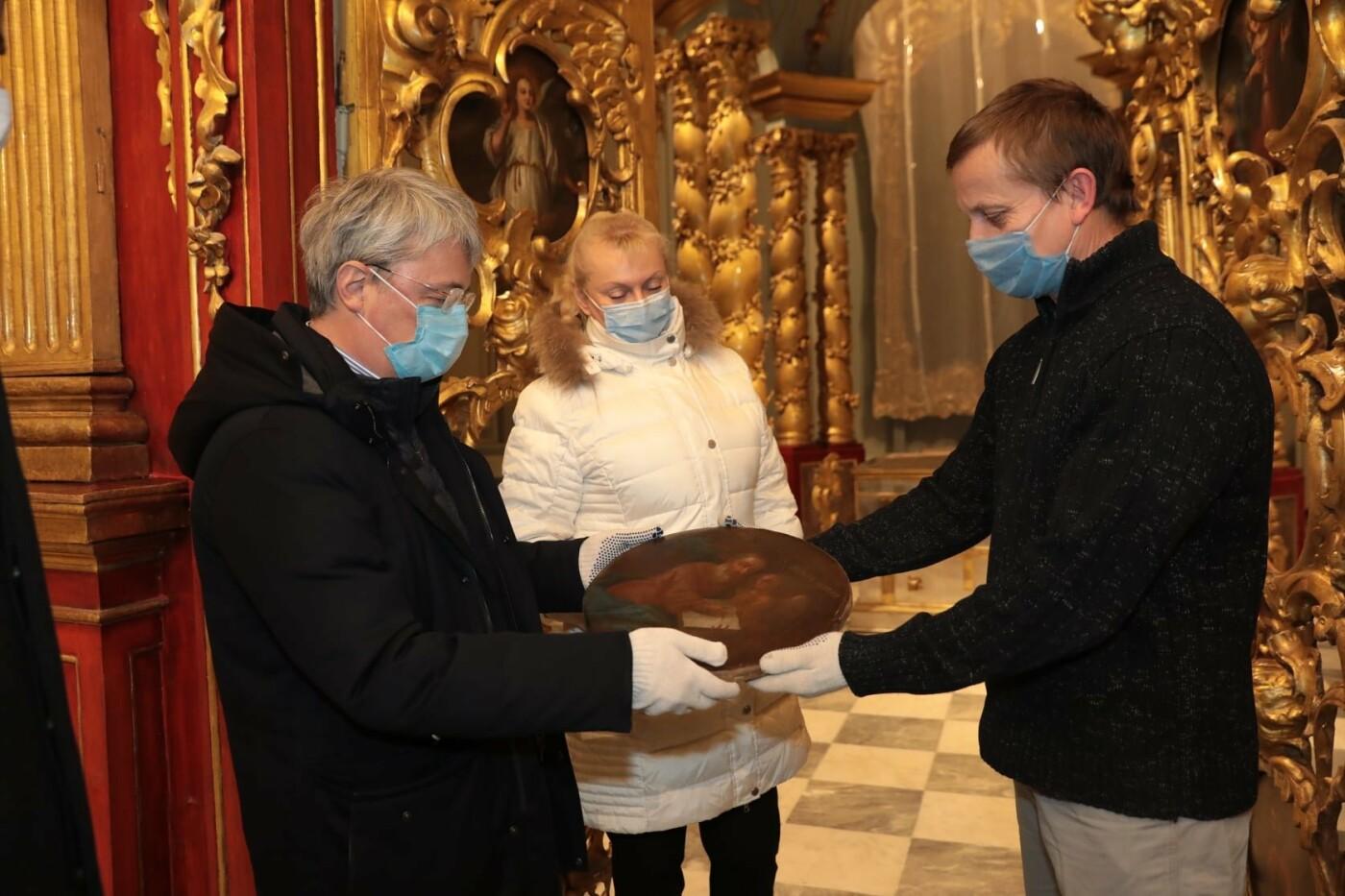 Андреевская церковь после реставрации, министр культуры Александр Ткаченко, Facebook