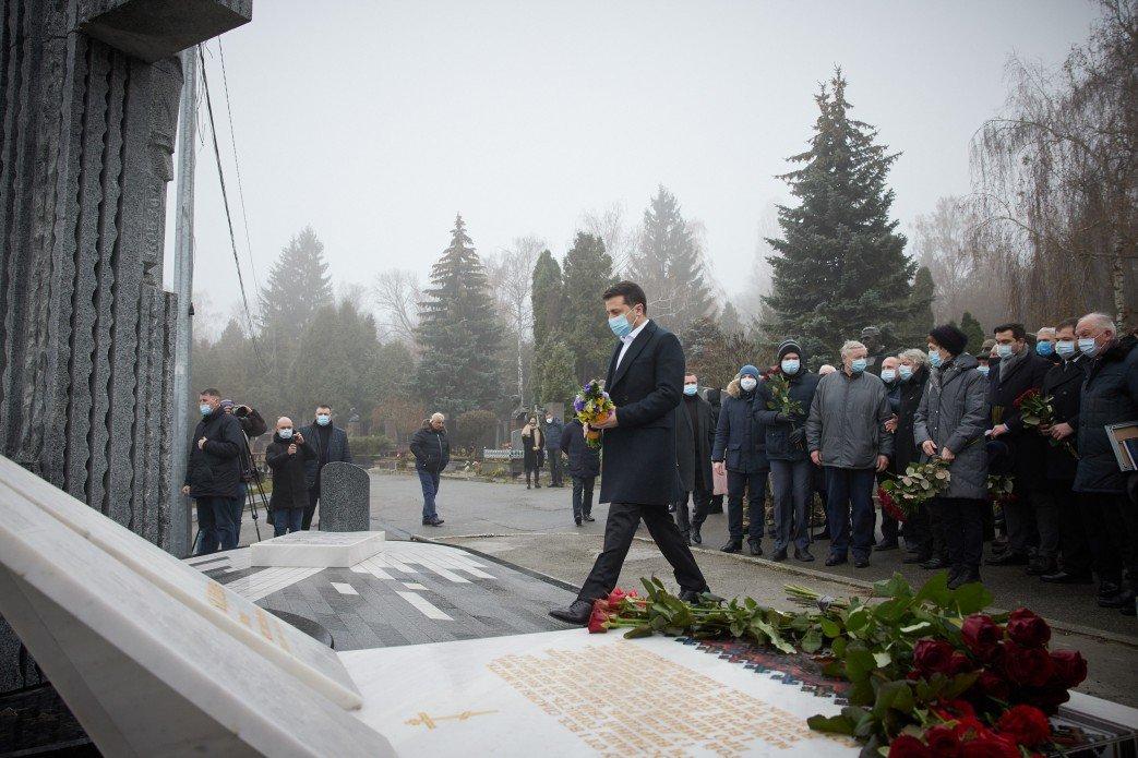 Президент Украины Владимир Зеленский на церемонии открытия.