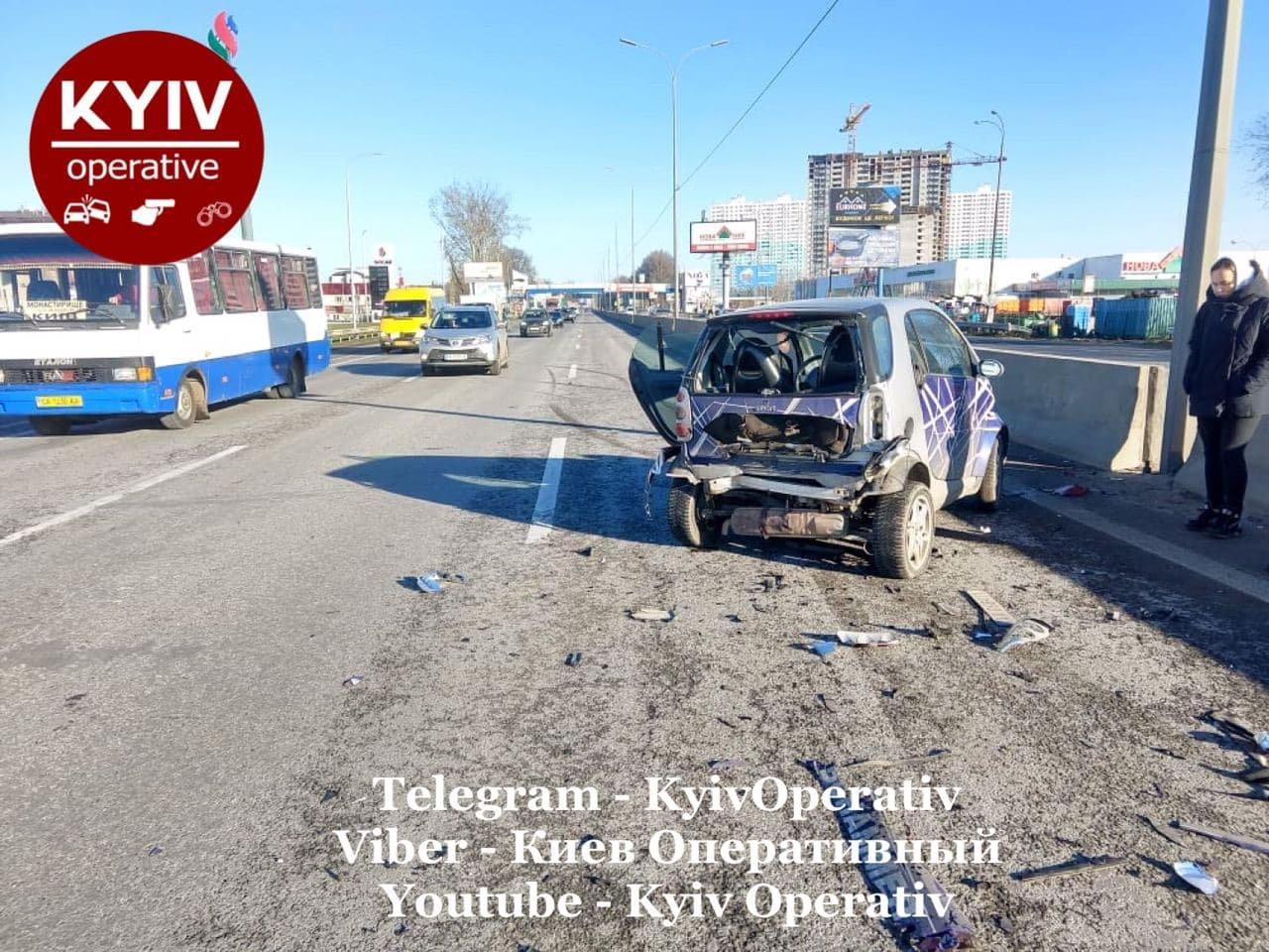 ДТП на Одесской трассе на выезде из столице