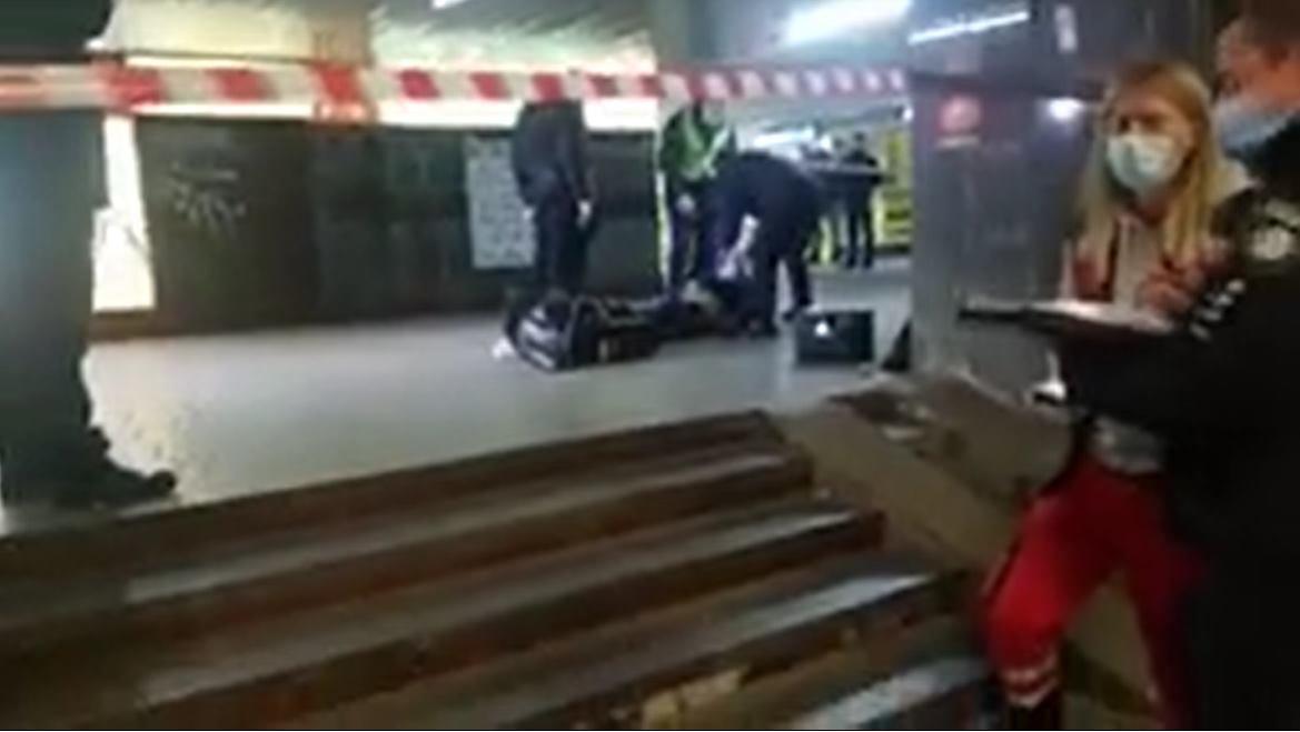 Конфликт на Майдане вечером 8 декабря привел к драке и убийству., Фото взято со страницы Константина Андриюка в социальной сети Facebook.