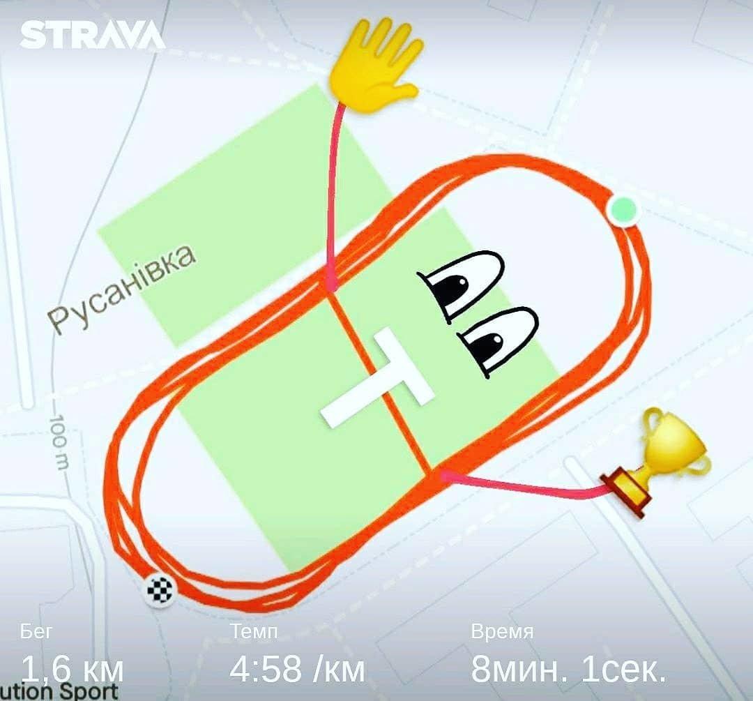 Бег, как искусство: история киевлянина, который рисует свои пробежки по улицам столицы, Фото с instagram Всеволода Севастьянова