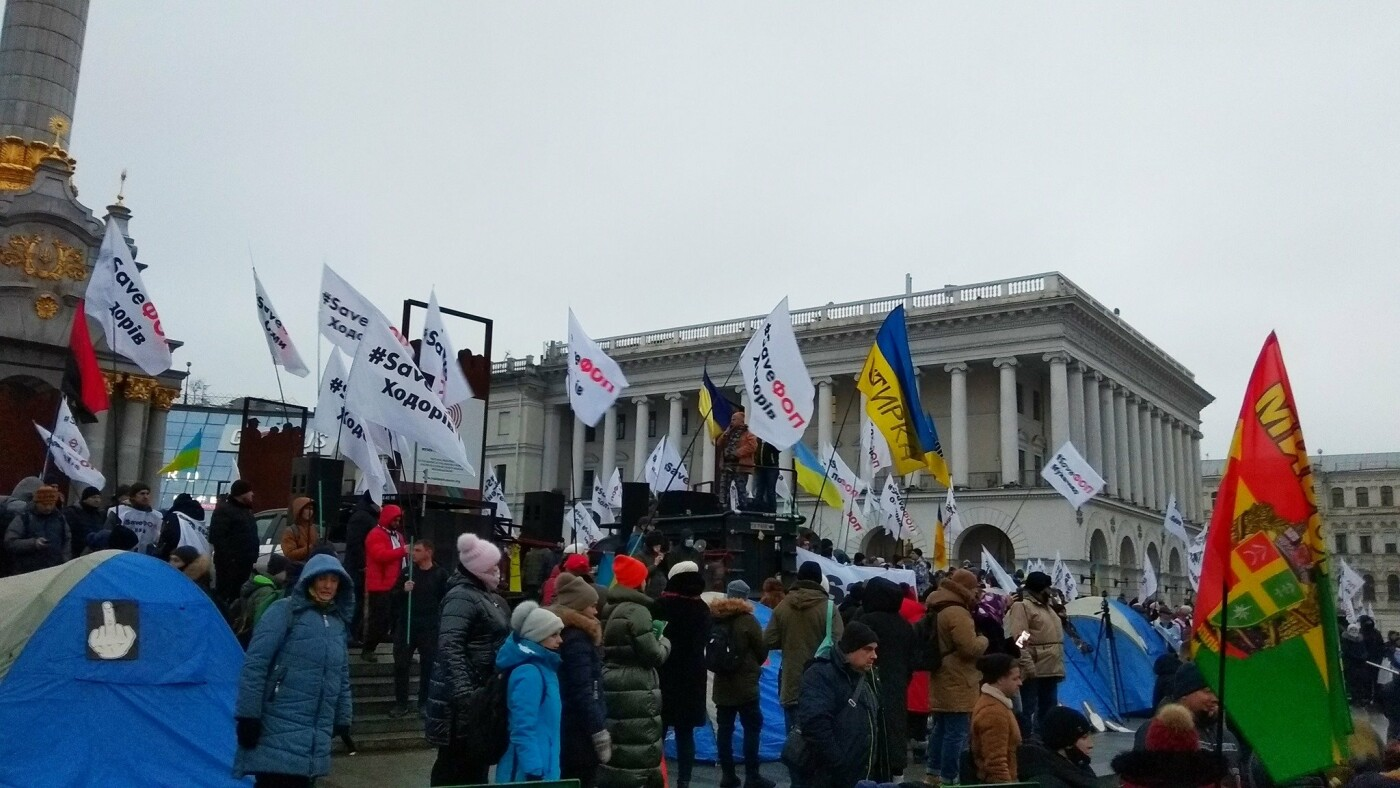 На Майдане Независимости в ночь на 16 декабря ночевали в палатках 20-30 предпринимателей, Юрий Кузнецов