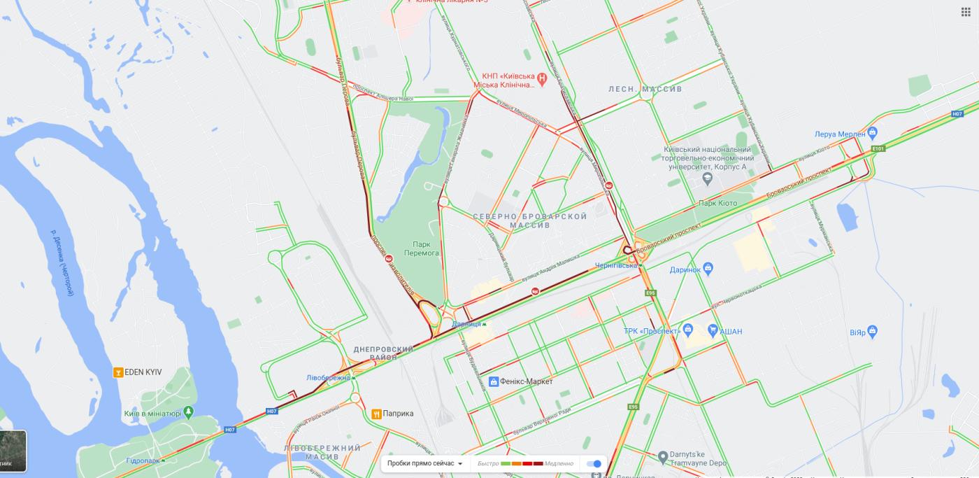 Пробки в Киеве утром в пятницу, 18 декабря
