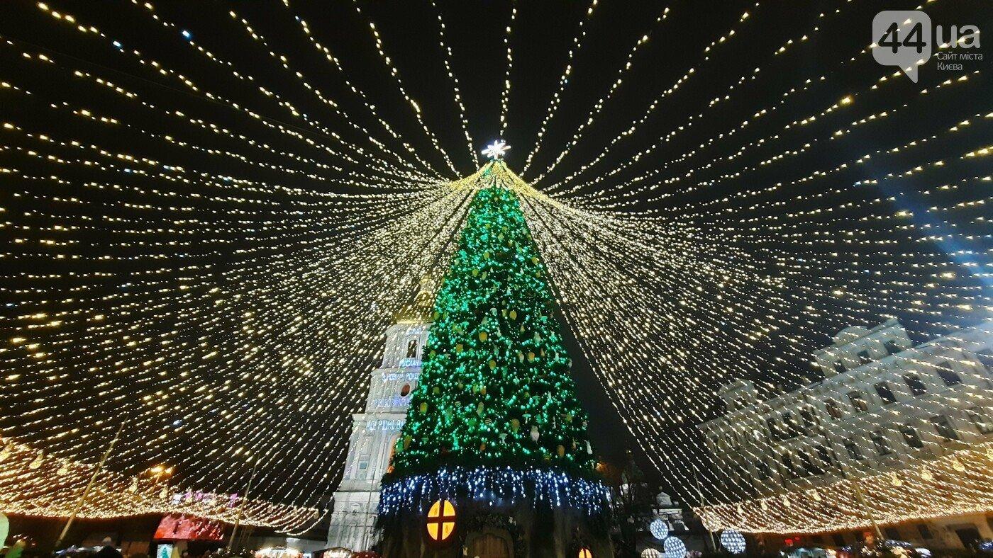 Новогодняя елка на Софийской площади в Киеве., Фото: 44.ua.