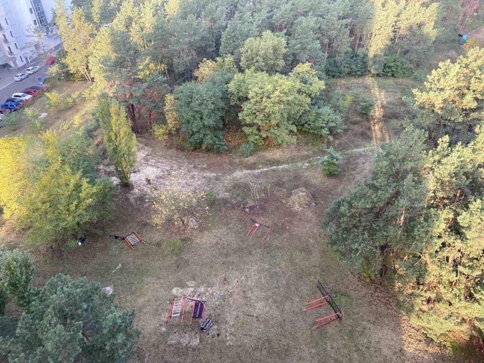 Так выглядит участок на ул. Генерала Жмаченко, которой присвоен статус парка.