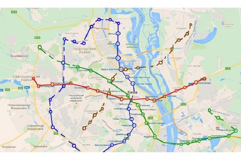 Каким могло быть метро в Киеве. Проекты, о которых забыли, Фото: Петиция КМДА