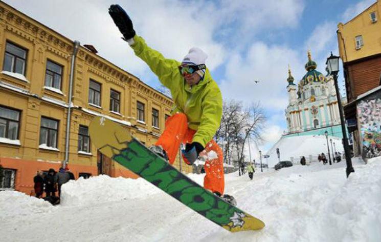 Киев зимой и со снегом. Когда такое было, Фото: Depo.ua