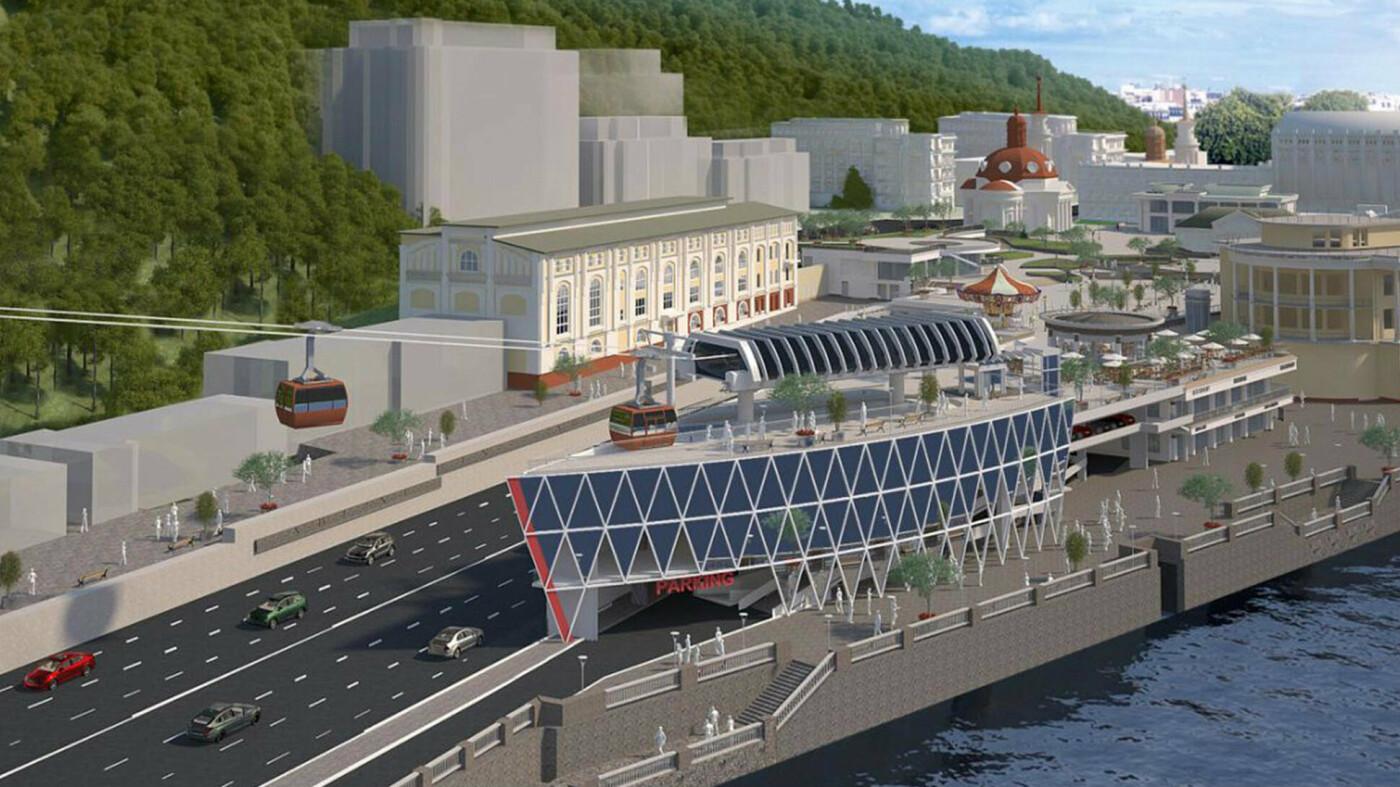 Визуализация проекта канатной дороги, Фото: архітектор Андрій Миргородський