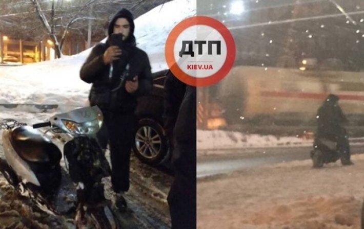 Курьер, угонщик, паровозик: что происходит на дорогах Киева, - СВОДКА ДТП, Фото: Риа М ДТП Киев