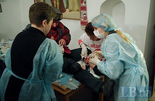 В Михайловском соборе развернули госпиталь