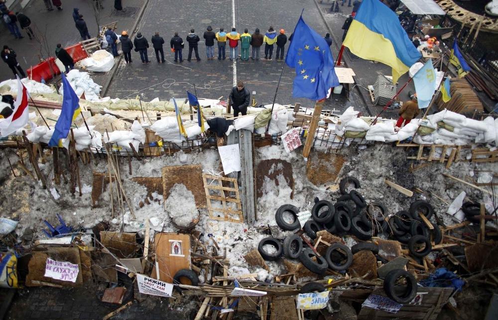 Баррикады на Майдане, 2014