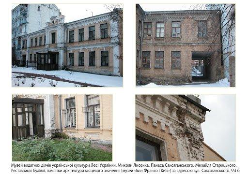 Музей выдающихся деятелей украинской культуры, Фото: dfrr.minregion.gov.ua