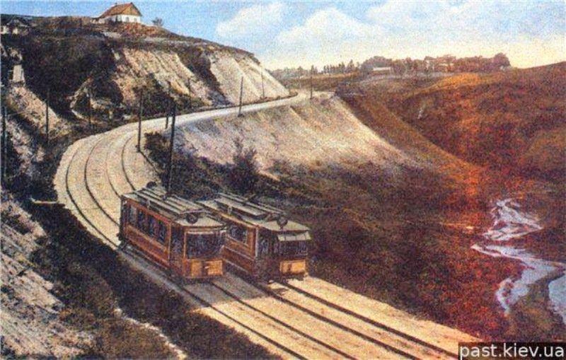 Киевская Швейцария: история живописного трамвайного маршрута, - ФОТО, Фото: oldtortila livejournal
