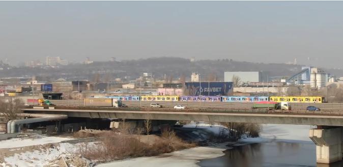 На Сырецко-Печерской линии киевской подземки курсирует уникальный поезд., Фото: скрин видео