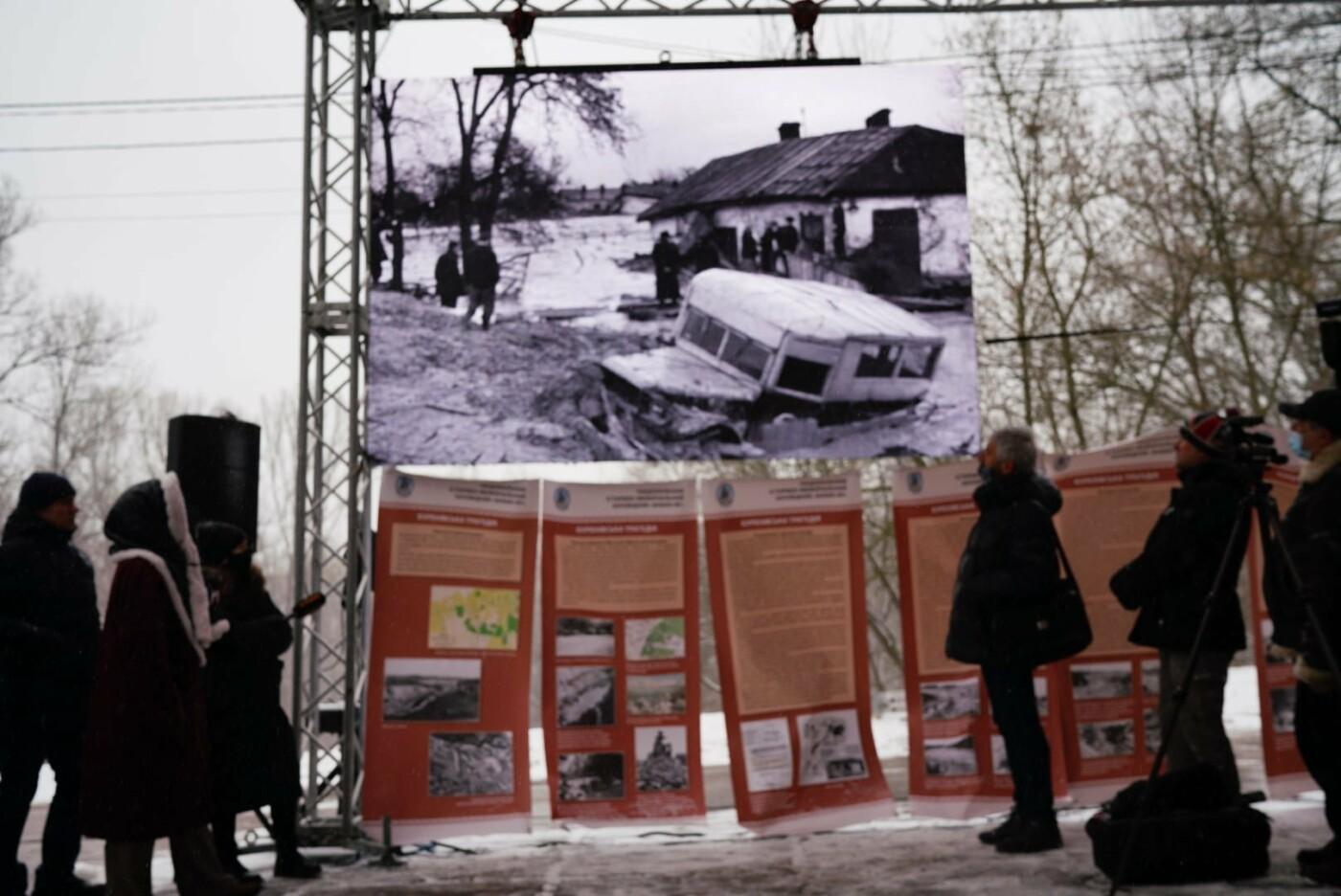 в Киеве установили инсталляцию посвященную Куреневской трагедии.