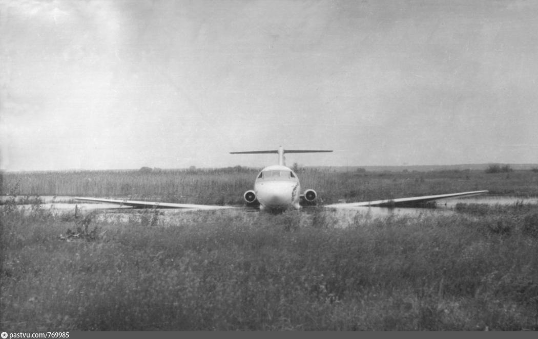 Каунас — Киев: аварийная посадка Як-40 на Осокорках в 1976 году, - ФОТО, Фото: Pastvu