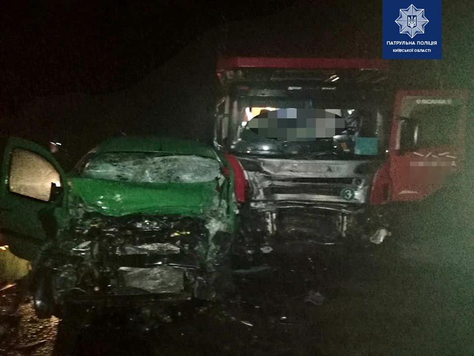 Несчастный инцидент произошел из стороны города Борисполя., Фото:  пресс-служба патрульной полиции Киевской области