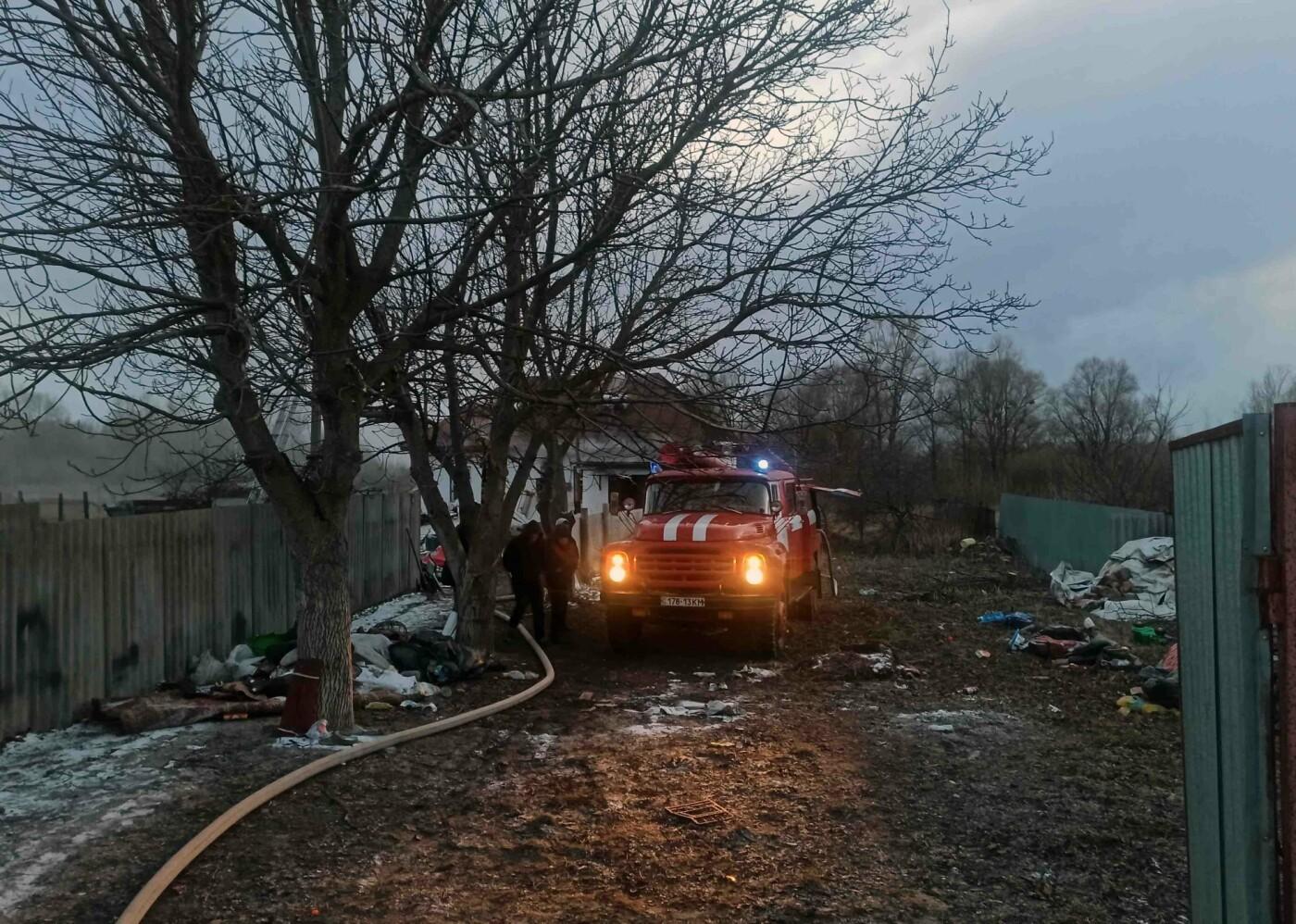 В селе Требухов Киевской области спасли из огня женщину и маленьких детей., Фото: пресс-служба спасателей Киевской области