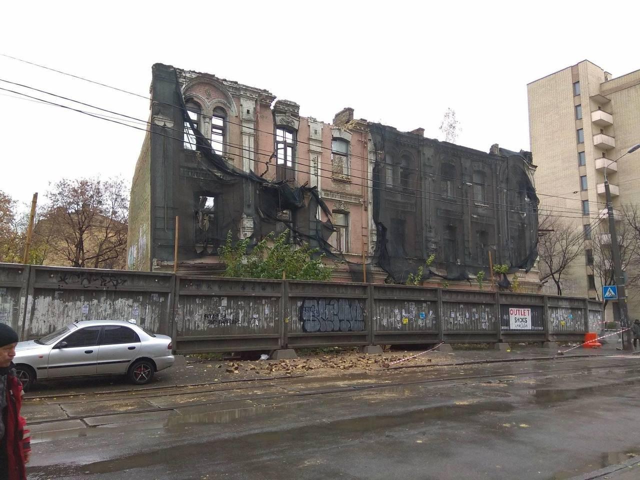 В Киеве на Подоле разрушается историческое здание, фото-1, Фото: Громадське телебачення