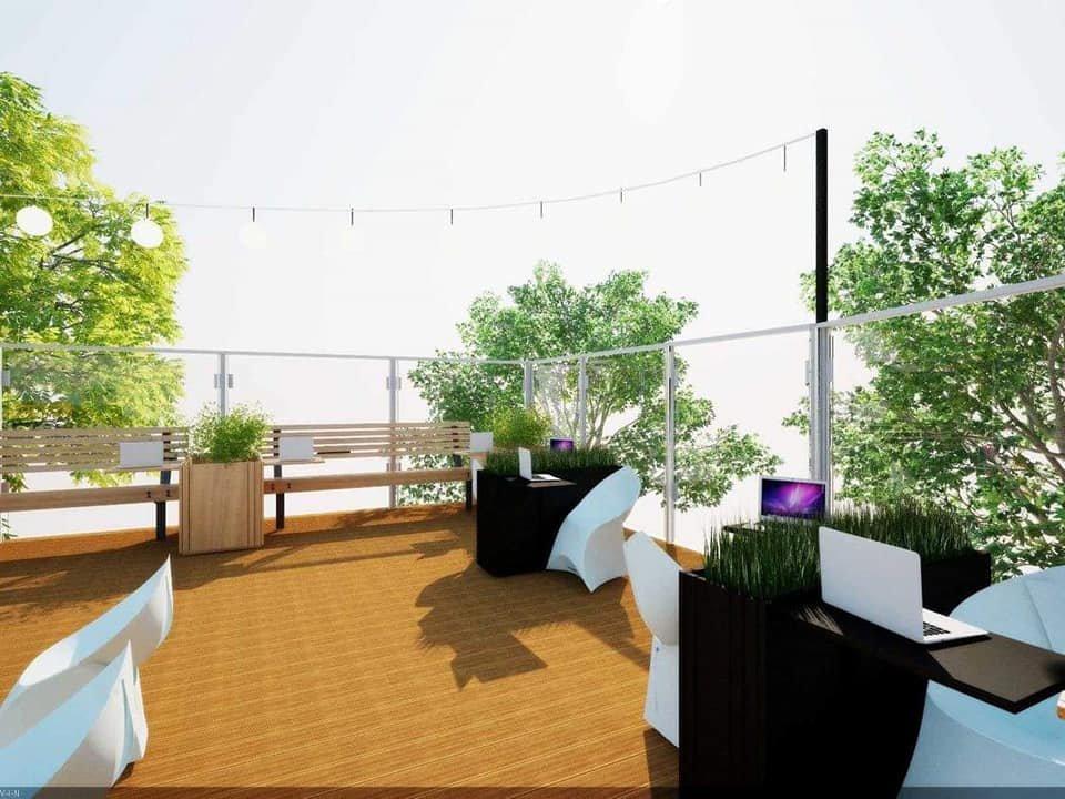 Проект террасы на крыше